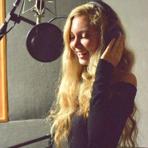 Heavenly Reyna in the recording studio